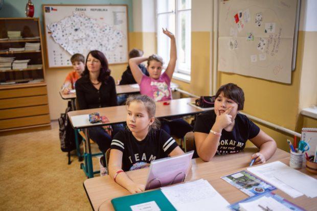 V Olivově dětské léčebně probíhá školní výuka v lavicích